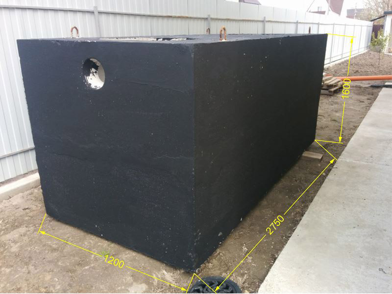 septik iz betona 3500litrov