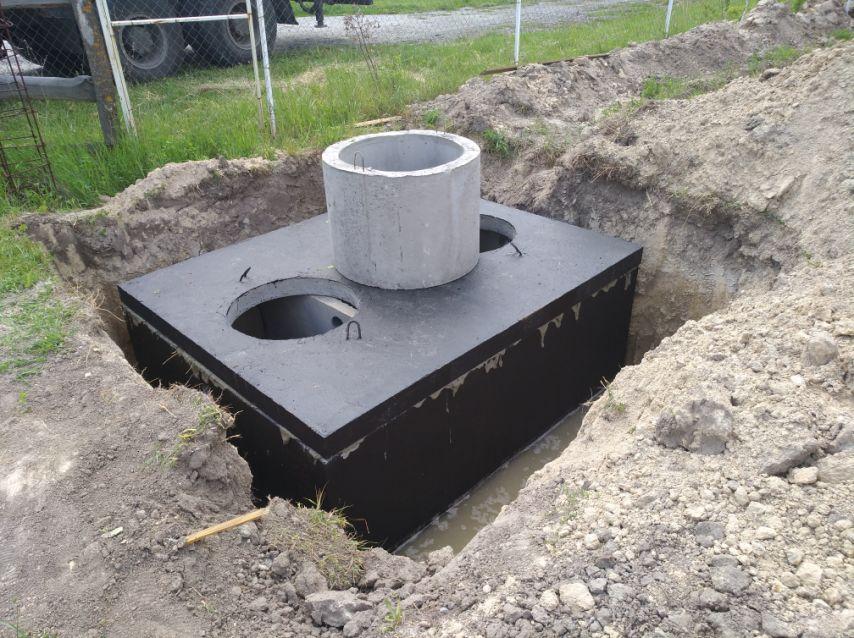 септик двухкамерный бетонный 10000 литров